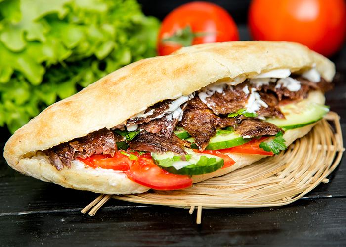 Kebab complet au boeuf